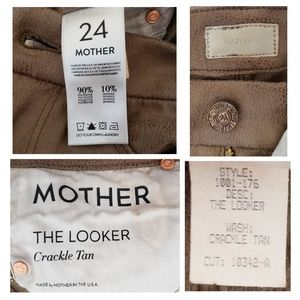 MOTHER Jeans - MOTHER DENIM The Looker Skinny jeans faux suede 24